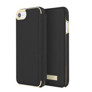 Kate Spade iPhone 7/8 Folio Black Case NEW